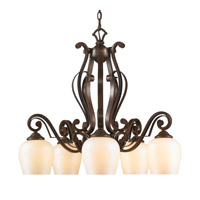 Golden Lighting Pemberly Court 5 Light Nook Chandelier in Russet Bronze 1089-D5-RSB-PRL