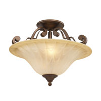 Golden Lighting Pemberly Court 2 Light Convertible Semi-Flush in Russet Bronze with Swirled Ivory Glass 1089-SF-RSB alternative photo thumbnail