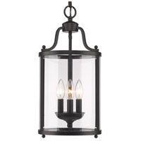 Golden Lighting 1157-3P-BLK Payton 3 Light 9 inch Black Pendant Ceiling Light