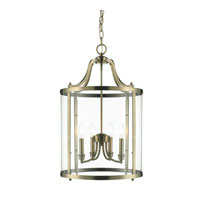 Golden Lighting Payton 4 Light Pendant in Antique Brass with Clear Glass 1157-4P-AB