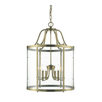 Golden Lighting Payton 6 Light Pendant in Antique Brass with Clear Glass 1157-6P-AB