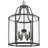 Golden Lighting Payton 6 Light Pendant in Black 1157-6P-BLK