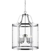 Golden Lighting 1157-6P CH Payton 6 Light 22 inch Chrome Pendant Ceiling Light Caged