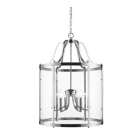 Golden Lighting Payton 6 Light Pendant in Chrome with Clear Glass 1157-6P-CH