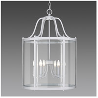 White Glass Foyer Pendants