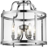 Golden Lighting 1157-SF CH Payton 4 Light 16 inch Chrome Semi-Flush Ceiling Light Damp