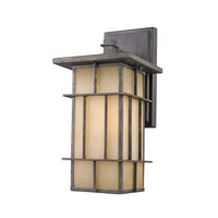 Golden Lighting Tucson 1 Light Outdoor Wall Lantern in Weathered Iron 11705-L-WI-es photo thumbnail