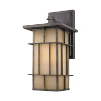 Golden Lighting Tucson 1 Light Outdoor Wall Lantern in Weathered Iron 11705-M-WI photo thumbnail