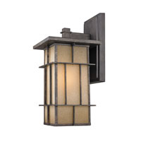 Golden Lighting Tucson 1 Light Outdoor Wall Lantern in Weathered Iron 11705-M-WI alternative photo thumbnail
