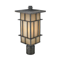 Golden Lighting Tucson 1 Light Outdoor Post Lantern in Weathered Iron 11705-P-WI-es photo thumbnail