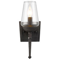 Golden Lighting Marcellis 1 Light Wall Sconce in Dark Natural Iron 1208-1W-DNI