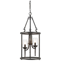 Golden Lighting 1208-3P-DNI Marcellis 3 Light 14 inch Dark Natural Iron Foyer - Caged Ceiling Light