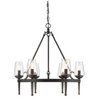 Golden Lighting Marcellis 6 Light Chandelier in Dark Natural Iron 1208-6-DNI