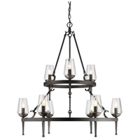 Golden Marcellis 9 Light Chandelier in Dark Natural Iron 1208-9-DNI