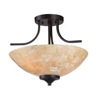 Golden Lighting Empyreal 3 Light Convertible Semi-Flush Mount in Roan Timber 1220-SF-RT alternative photo thumbnail