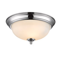 Golden Lighting Signature 2 Light Flush Mount in Chrome 1260-11-CH-OP
