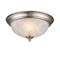 Golden Lighting Signature 2 Light Flush Mount in Pewter 1260-11-PW-MBL