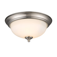 Golden Lighting Signature 2 Light Flush Mount in Pewter 1260-11-PW-OP