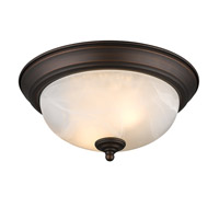 Golden Lighting Signature 2 Light Flush Mount in Rubbed Bronze 1260-11-RBZ-MBL