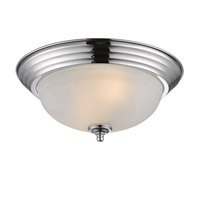 Golden Lighting Signature 2 Light Flush Mount in Chrome 1260-13-CH-MBL