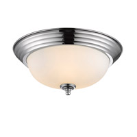 Golden Lighting Signature 2 Light Flush Mount in Chrome 1260-13-CH-OP