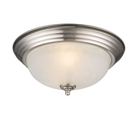 Golden Lighting Signature 2 Light Flush Mount in Pewter 1260-13-PW-MBL
