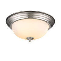 Golden Lighting Signature 2 Light Flush Mount in Pewter 1260-13-PW-OP