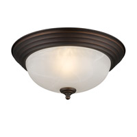 Golden Lighting Signature 2 Light Flush Mount in Rubbed Bronze 1260-13-RBZ-MBL