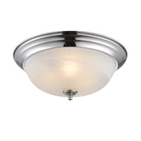Golden Lighting Signature 3 Light Flush Mount in Chrome 1260-15-CH-MBL