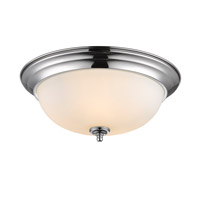 Golden Lighting Signature 3 Light Flush Mount in Chrome 1260-15-CH-OP
