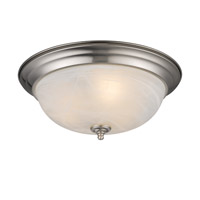 Golden Lighting Signature 3 Light Flush Mount in Pewter 1260-15-PW-MBL