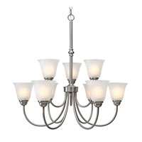 Golden Lighting Grace 9 Light Chandelier in Pewter with Marbled Glass 1264-9-PW