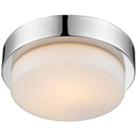 Golden Lighting 1270-09-CH Multi-Family 1 Light 9 inch Chrome Flush Mount - Damp Ceiling Light