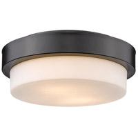 Golden Lighting 1270-11-BLK Versa 2 Light 11 inch Matte Black Flush Mount - Damp Ceiling Light