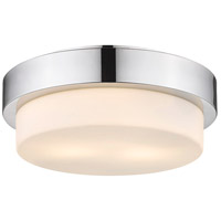 Multi-Family 2 Light 11 inch Chrome Flush Mount Ceiling Light in Small