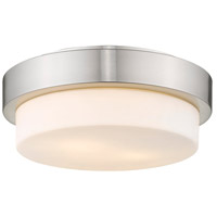 Multi-Family 2 Light 11 inch Pewter Flush Mount Ceiling Light in Small