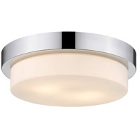 Multi-Family 2 Light 13 inch Chrome Flush Mount Ceiling Light