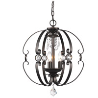 Ella 3 Light 18 inch Brushed Etruscan Bronze Foyer Pendant Ceiling Light