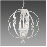 Ella 3 Light 18 inch French White Pendant Ceiling Light