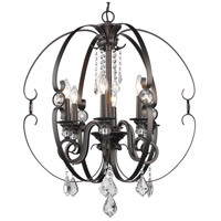 Ella 6 Light 26 inch Brushed Etruscan Bronze Chandelier Ceiling Light