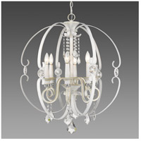 Ella 6 Light 26 inch French White Chandelier Ceiling Light
