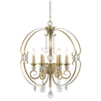 Ella 6 Light 26 inch White Gold Chandelier Ceiling Light