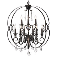 Golden Lighting 1323-9-EBB Ella 9 Light 30 inch Brushed Etruscan Bronze Chandelier Ceiling Light, 2 Tier