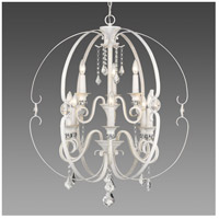 Ella 9 Light 30 inch French White Chandelier Ceiling Light