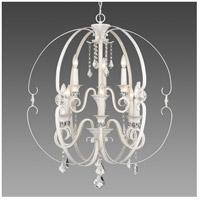 Golden Lighting 1323-9-FW Ella 9 Light 30 inch French White Chandelier Ceiling Light