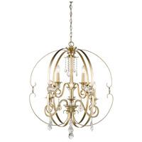 Golden Lighting 1323-9-WG Ella 9 Light 30 inch White Gold Chandelier Ceiling Light 2 Tier
