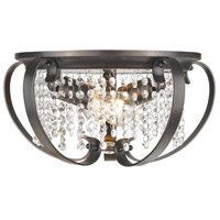Ella 2 Light 15 inch Brushed Etruscan Bronze Flush Mount Ceiling Light