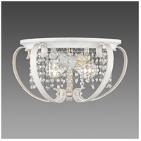 Ella 2 Light 15 inch French White Flush Mount Ceiling Light