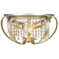 Ella 2 Light 15 inch White Gold Flush Mount Ceiling Light