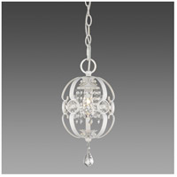 Ella 1 Light 7 inch French White Mini Pendant Ceiling Light